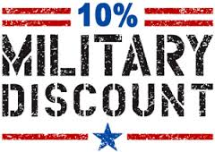 Military discount for metro Atlanta carpet cleaning customers